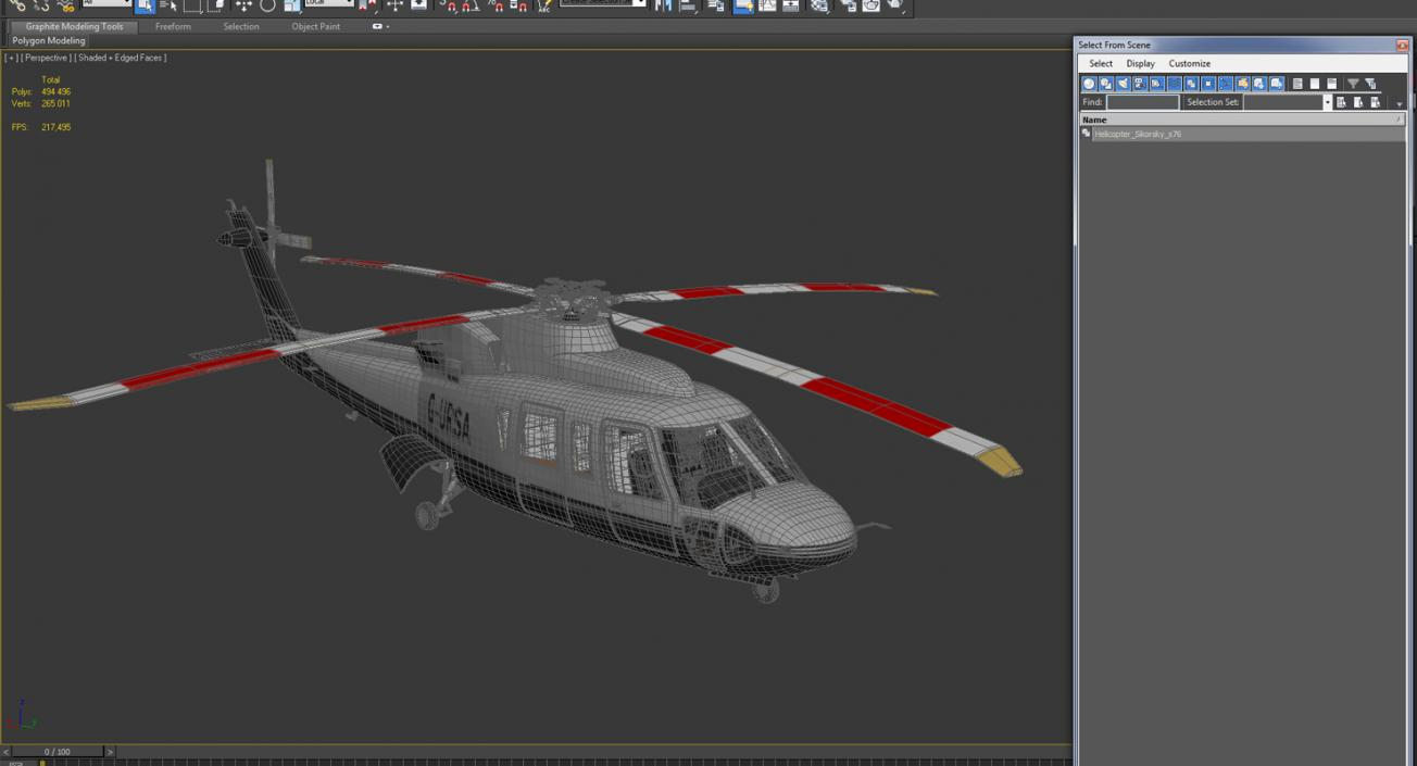 3D Utility Helicopter Sikorsky s76