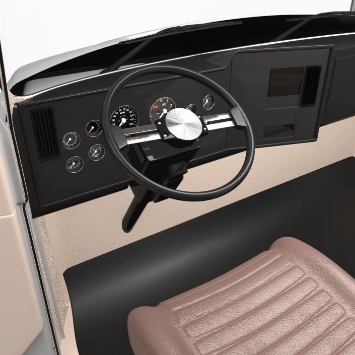 3D Truck Mack Simple Interior