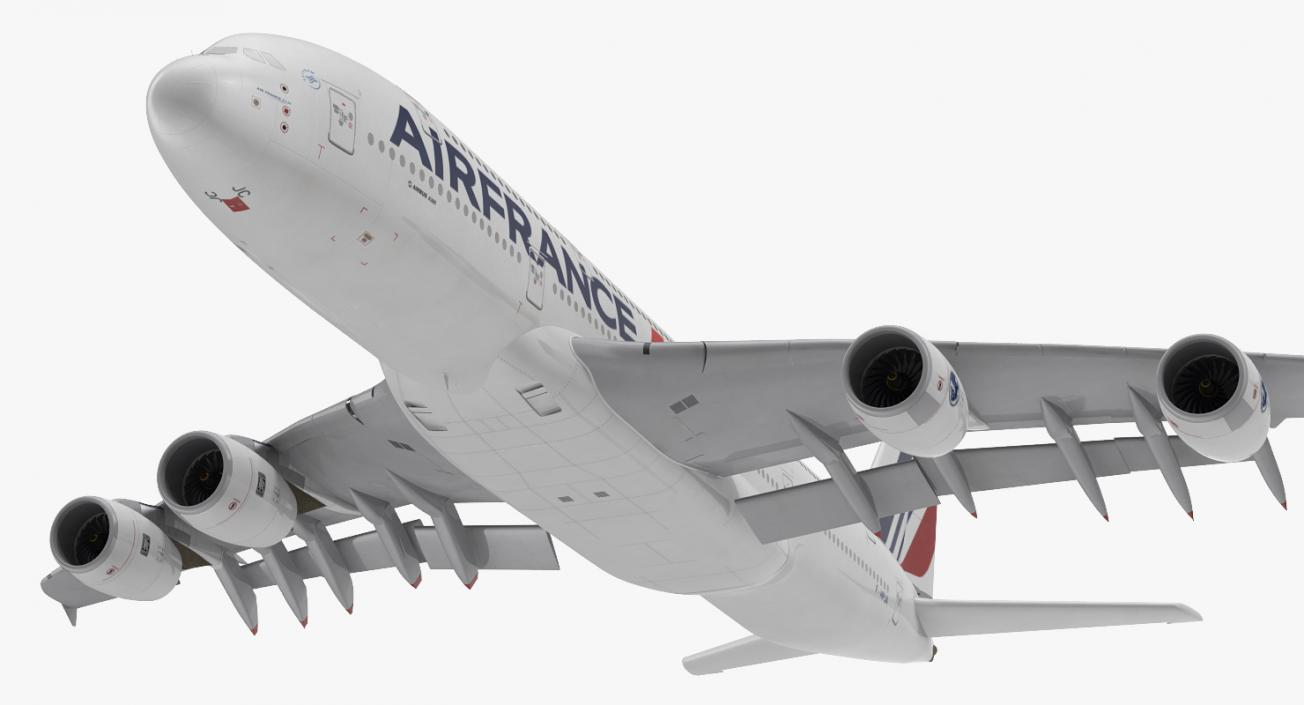 Airbus A380-1000 Air France Rigged 3D model