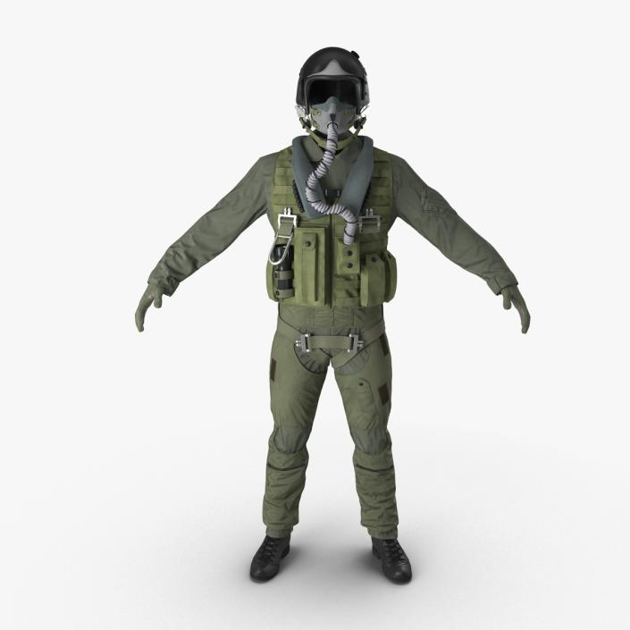 US Military Jet Fighter Pilot Uniform 3D