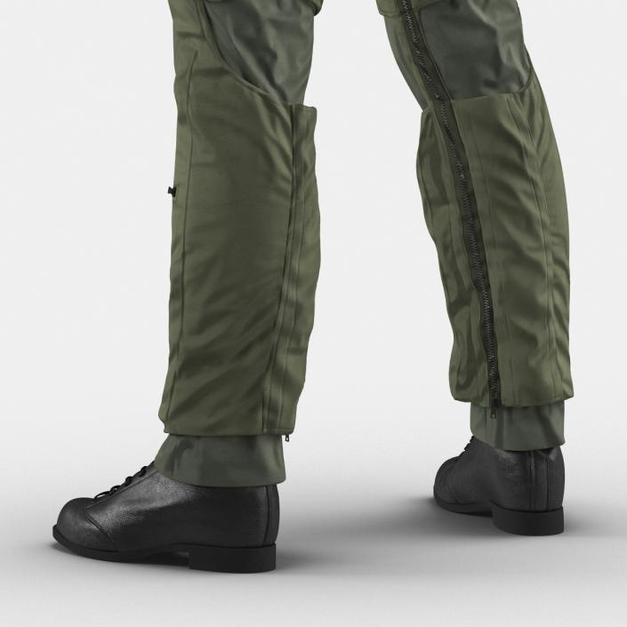 US Military Jet Fighter Pilot Uniform 3D