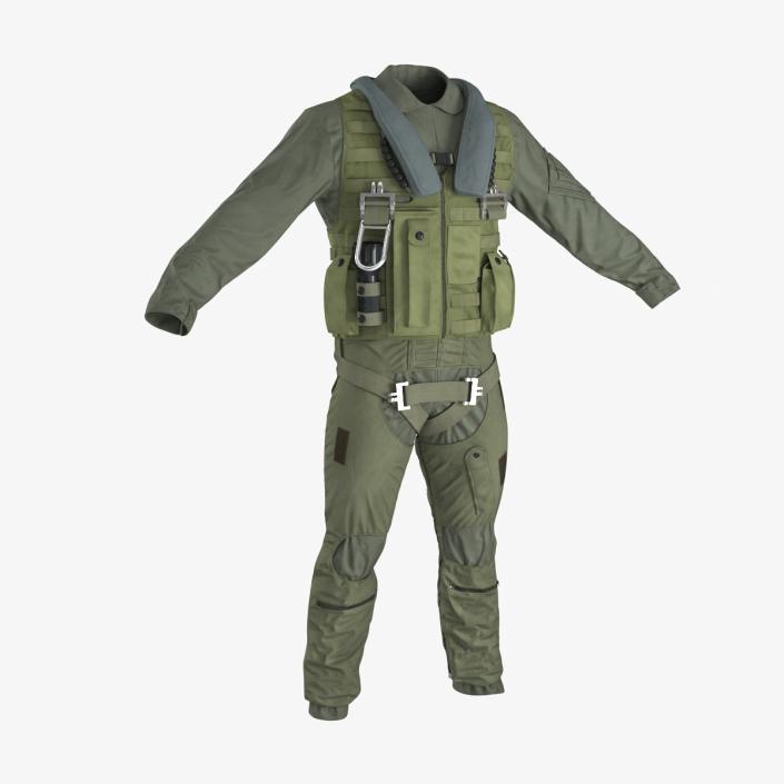 US Military Jet Fighter Pilot Uniform 3 3D model