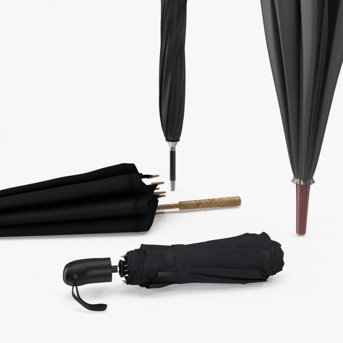 Closed Umbrellas Collection 2 3D model