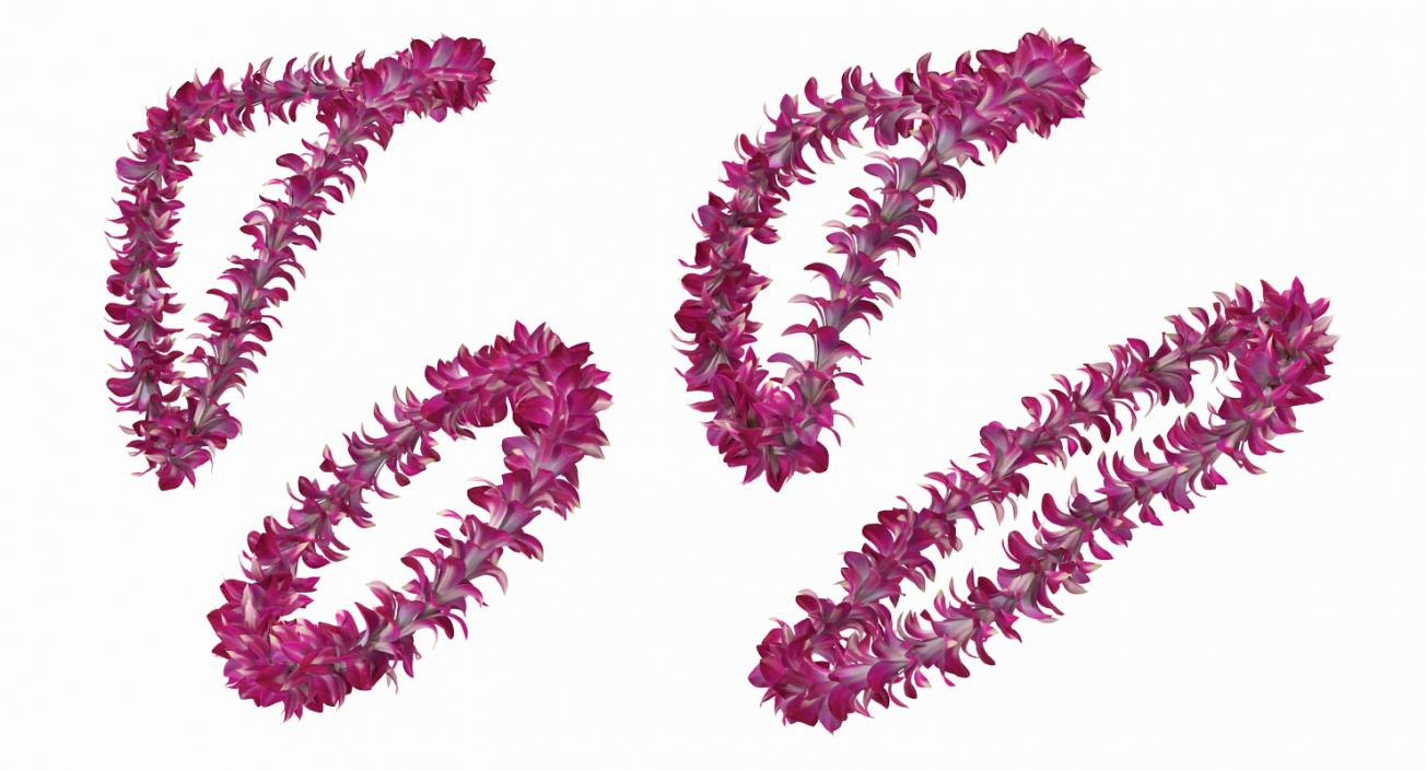 Hawaiian Leis Collection 3D model