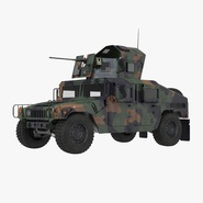 Humvee M1151 Enhanced Armament Carrier Simple Interior Camo