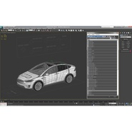 Tesla Model X Rigged. Preview 82