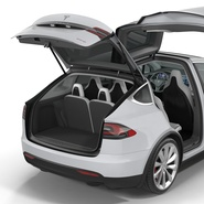 Tesla Model X Rigged. Preview 39