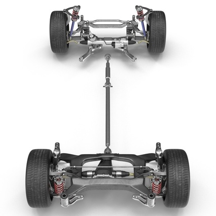Sedan Chassis. Render 12