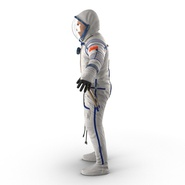 Russian Astronaut Wearing Space Suit Sokol KV2 Rigged for Maya. Preview 14