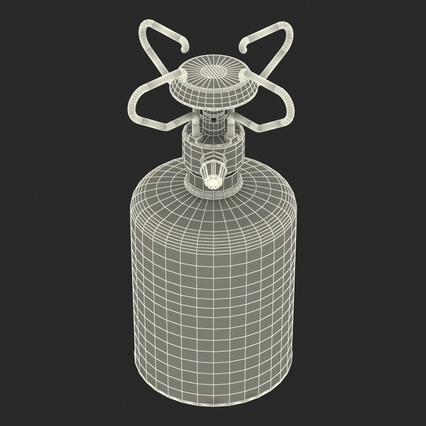 Gas Cylinder with Camping Stove. Render 19