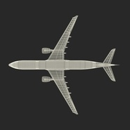 Jet Airliner Airbus A330-300 Emirates Rigged. Preview 58