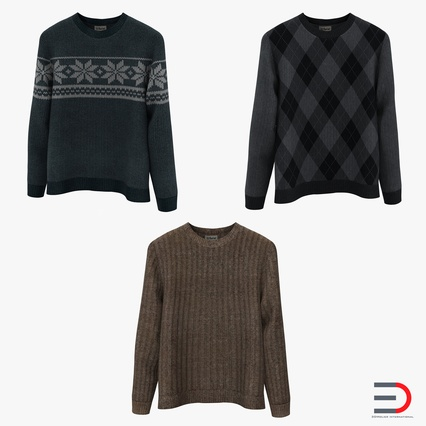 Sweaters Collection. Render 1