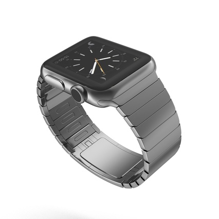 Apple Watch 38mm Link Bracelet Dark Space 2. Render 10