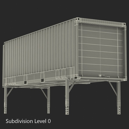 Swap Body Container ISO Blue. Render 21