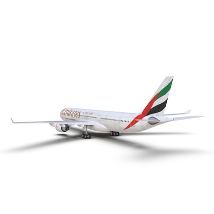 Jet Airliner Airbus A330-300 Emirates Rigged. Render 22