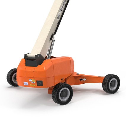 Telescopic Boom Lift Generic 4 Pose 2. Render 28