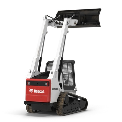 Compact Tracked Loader Bobcat With Blade Rigged. Render 23