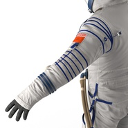 Russian Astronaut Wearing Space Suit Sokol KV2 Rigged for Maya. Preview 40