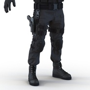 SWAT Man Mediterranean Rigged for Cinema 4D. Preview 30