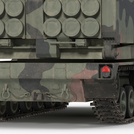 US Multiple Rocket Launcher M270 MLRS Camo. Render 19