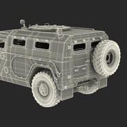 Russian Mobility Vehicle GAZ Tigr M Rigged. Preview 83