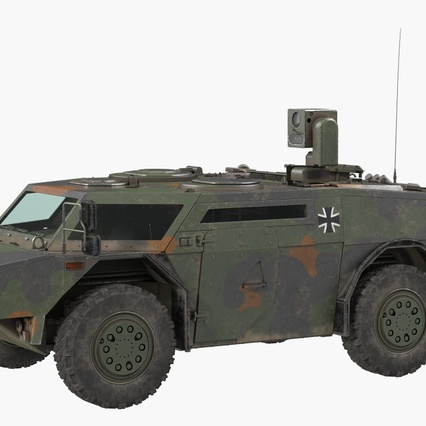Fennek German Reconnaissance Vehicle Rigged. Render 3