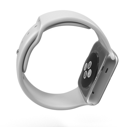 Apple Watch Sport Band White Fluoroelastomer 2. Render 6