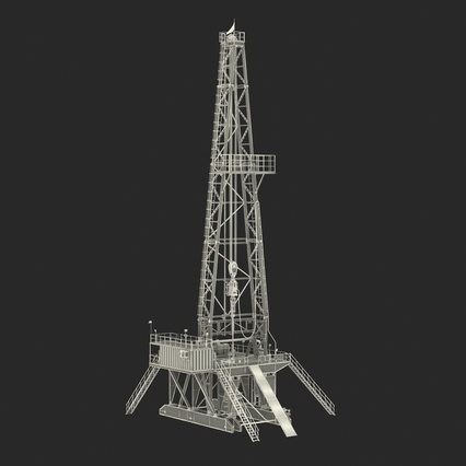Fracking Gas Platform. Render 4