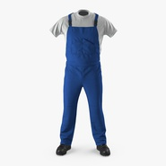 Construction Worker Blue Uniform