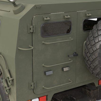 Russian Mobility Vehicle GAZ Tigr M Rigged. Render 46