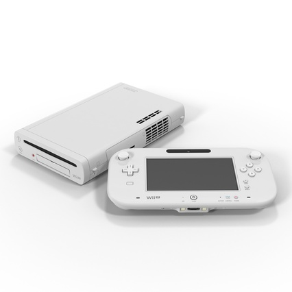 Nintendo Wii U Set White. Render 2