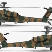 AH-64D Apache Longbow Japan Rigged. Preview 12