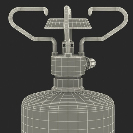 Gas Cylinder with Camping Stove. Render 21