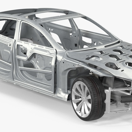 Tesla Model S Frame and Chassis. Render 11