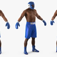 African American Boxer Rigged for Cinema 4D. Preview 9