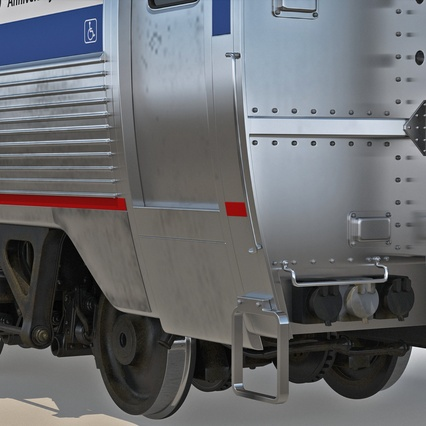Railroad Amtrak Passenger Car 2. Render 29