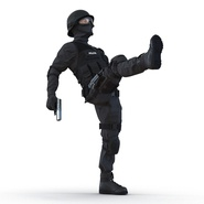 SWAT Man Mediterranean Rigged for Cinema 4D. Preview 6