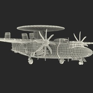 Grumman E-2 Hawkeye Tactical Early Warning Aircraft Rigged. Preview 6