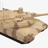 French Army Tank AMX-56 Leclerc Rigged. Preview 13