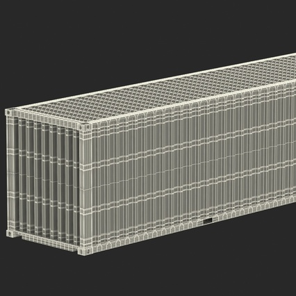40 ft High Cube Container White. Render 48