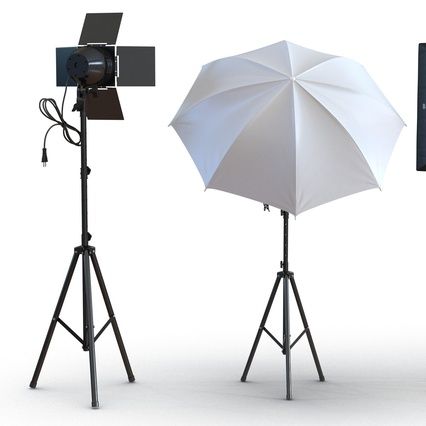Photo Studio Lamps Collection. Render 15