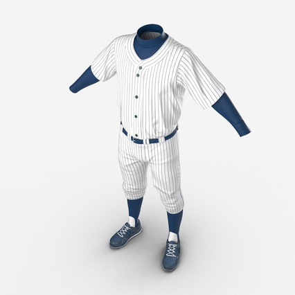 Baseball Player Outfit Generic 8. Render 14