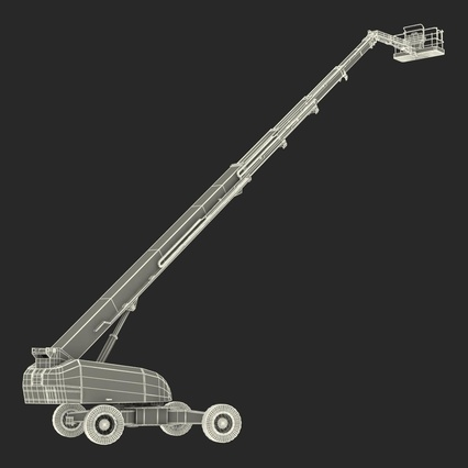 Telescopic Boom Lift Generic 4 Pose 2. Render 79