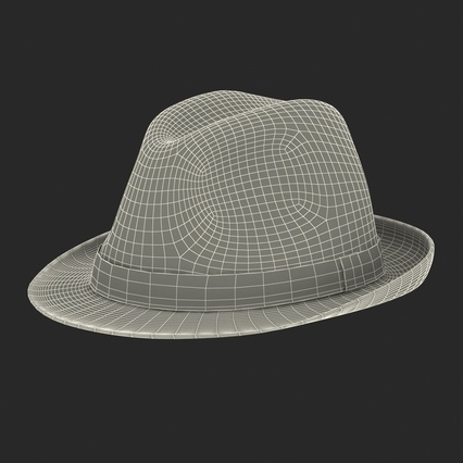 Fedora Hat Blue. Render 5