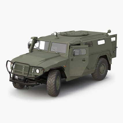 Russian Mobility Vehicle GAZ Tigr M Rigged. Render 1