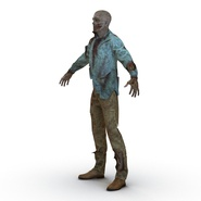 Zombie Rigged for Cinema 4D. Preview 16