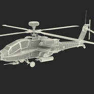 AH-64D Apache Longbow Japan Rigged. Preview 6