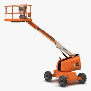 Telescopic Boom Lift Generic Rigged