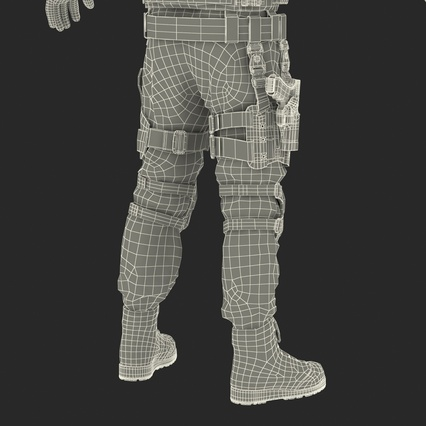 SWAT Man Mediterranean Rigged for Maya. Render 60