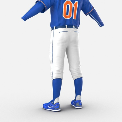 Baseball Player Outfit Mets 2. Render 19